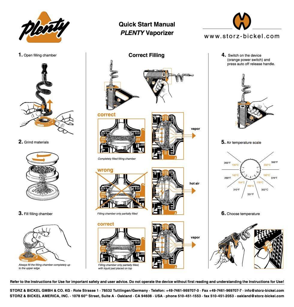 Plenty Vaporizer Quick Start Guide Pg1
