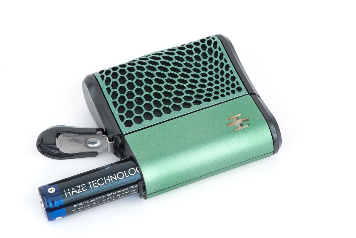 Haze Vaporizer showing battery compartment